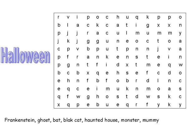 Juegos de Halloween para aprender inglés