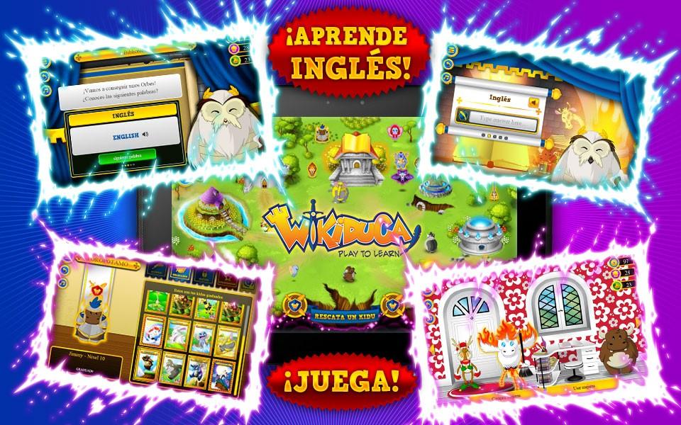 Aprender inglés con el videojuego educativo de Wikiduca
